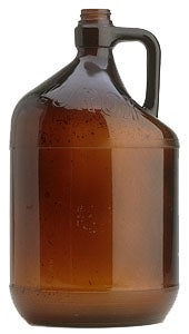 More Streamlined Bulb Shaped Neck Area On Pint And Quart Four Finger Handle Gallon Half