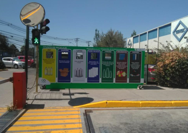 recycling bins Clorox Chile