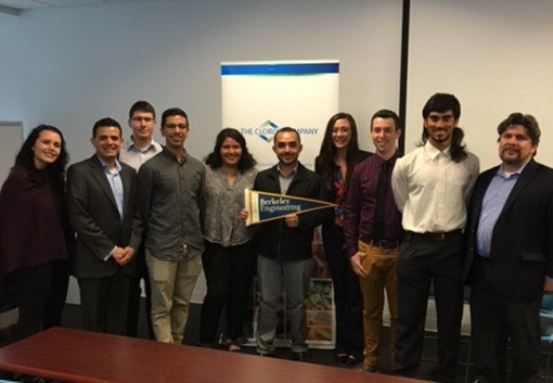 A group of UC Berkeley engineering students participated in a diversity recruiting day at The Clorox Company