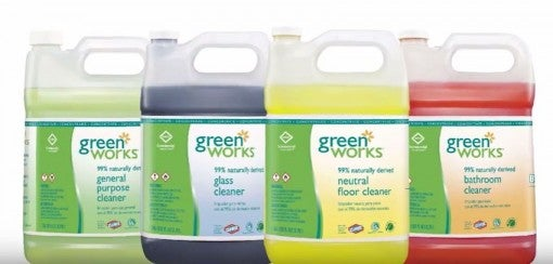 Green Works commercial solutions lineup