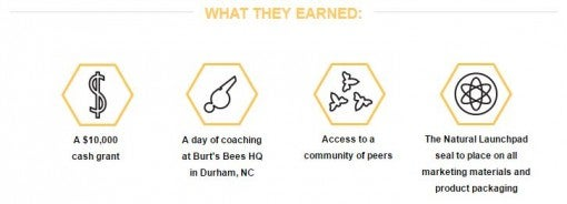 Burt's Bees Natural Launchpad What Winners Earn