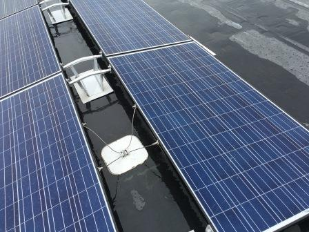 Renewable Energy Solar City panels on Clorox Aberdeen distribution center