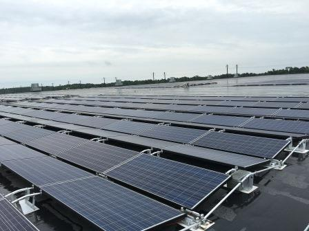 Renewable energy solar panels in Clorox Aberdeen