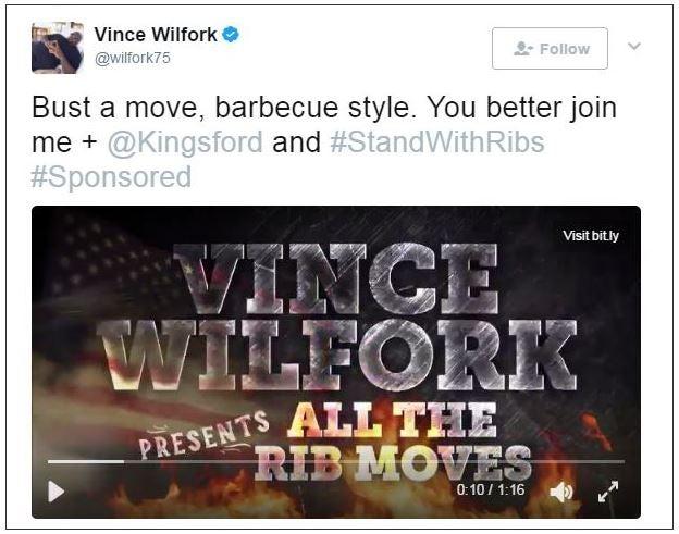 Kingsford ribs Vince Wilfork